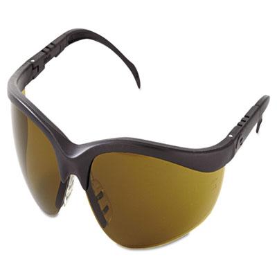 Klondike protective eyewear, black frame, brown lens, sold as 1 each