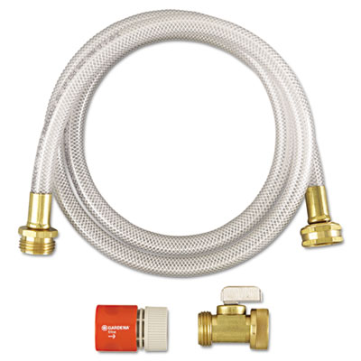 Rtd water hook-up kit, switch, on/off, 3/8 dia x 5ft, sold as 1 each