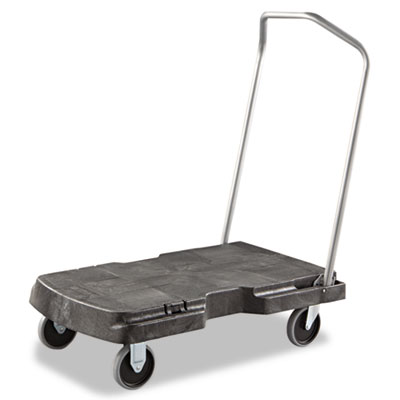Triple trolley, 500-lb cap, 20-1/2w x 32-1/2d x 7h, black, sold as 1 each