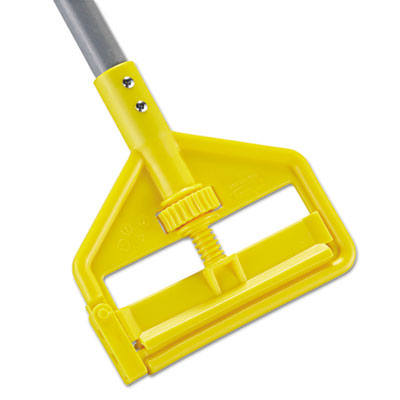 Invader fiberglass side-gate wet-mop handle, 1 dia x 60, gray/yellow, sold as 1 each