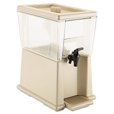 Beverage dispenser, polycarbonate, 3gal, clear, sold as 1 each