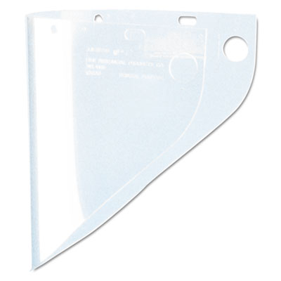 High performance face shield window, extended vision, propionate, clear, sold as 1 each