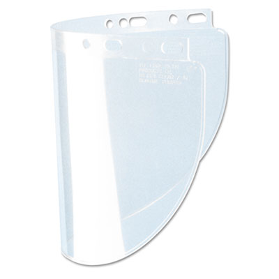 High performance face shield window, standard, propionate, clear, sold as 1 each
