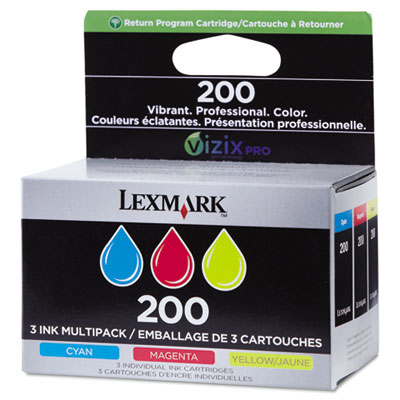 14l0268 (200) ink, cyan, magenta, yellow, 3/pk, sold as 1 package