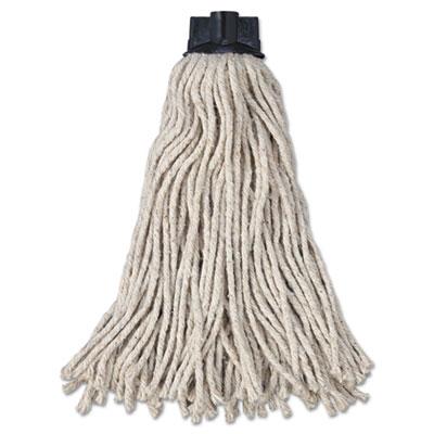 Replacement mop head for mop/handle combo, cotton, white, 12/carton, sold as 1 carton, 12 each per carton