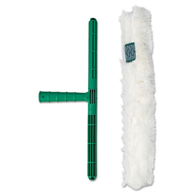 "Original strip washer, 18"" wide blade, green nylon handle, white cloth sleeve, sold as 1 each"