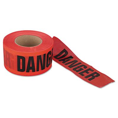 """Danger barrier tape, 3 in x 1000ft, """"""""danger do not enter"""""""" text, sold as 1 roll"""