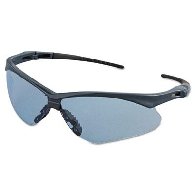 Nemesis safety glasses, blue frame, light blue lens, sold as 1 each