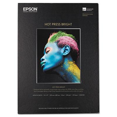 Hot press bright fine art paper, 13 x 19, bright white, 25 sheets, sold as 1 each