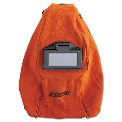 Huntsman leather welding helmet, rust, sold as 1 each