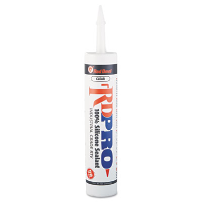 Silicone sealant cartridge, 9oz, clear, sold as 1 each
