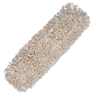 Mop head, dust, cotton, 24 x 3, white, sold as 1 each