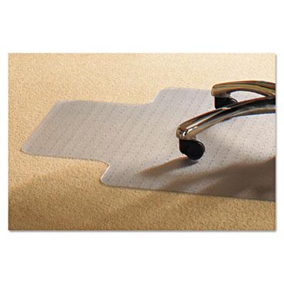 Pvc chair mat for standard pile carpet, 45 x 53, 25 x 11 lip, clear, sold as 1 each