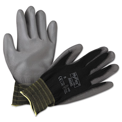 Hyflex lite gloves, black/gray, size 8, 12 pairs, sold as 12 pair