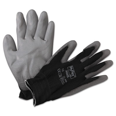 Hyflex lite gloves, black/gray, size 10, 12 pairs, sold as 12 pair