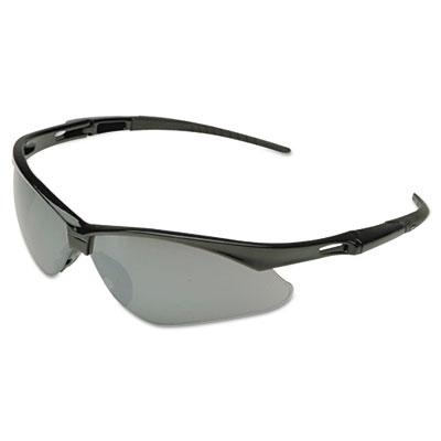 Nemesis safety glasses, black frame, amber lens, sold as 1 each