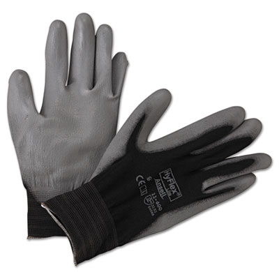 Hyflex lite gloves, black/gray, size 9, 12 pairs, sold as 12 pair