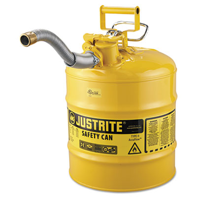 """Accuflow safety can, type ii, 5gal, yellow, 1"""""""" hose, sold as 1 each"""