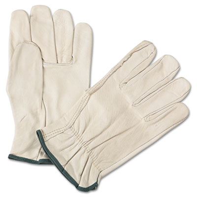 4000 series leather driver gloves, white, medium, 12 pairs, sold as 12 pair