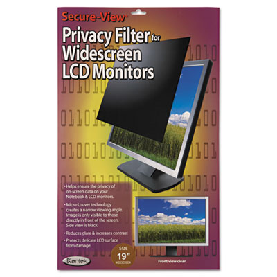 """Secure view lcd monitor privacy filter for 19"""" widescreen, sold as 1 each"""
