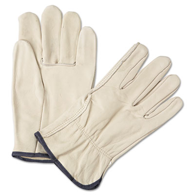 4000 series leather driver gloves, white, large, 12 pairs, sold as 12 pair