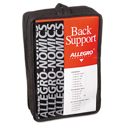 Economy back support belt, large, black, sold as 1 each