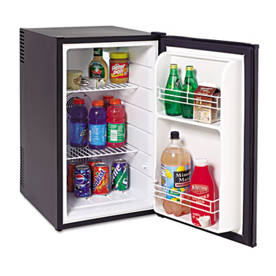 2.5 cu.ft superconductor refrigerator, black, sold as 1 each