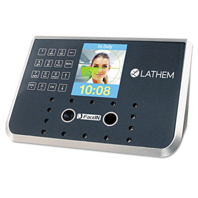 Face recognition time clock system. 500 employees, gray, 7-1/4 x 3-1/2 x 5-1/4, sold as 1 each