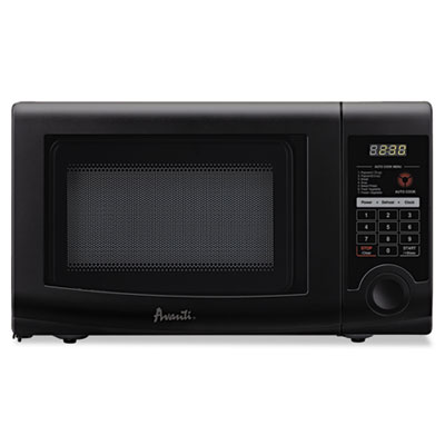 0.7 cubic foot capacity microwave oven, 700 watts, black, sold as 1 each