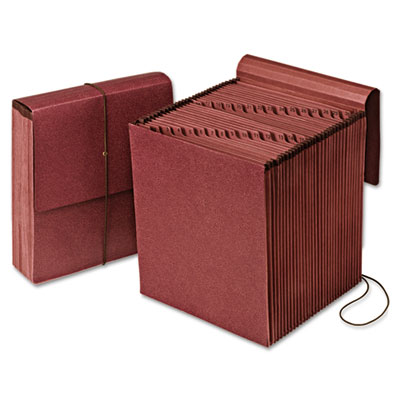 Vertical indexed expanding file, 1-31, 31 pockets, red fiber, letter, redrope, sold as 1 each