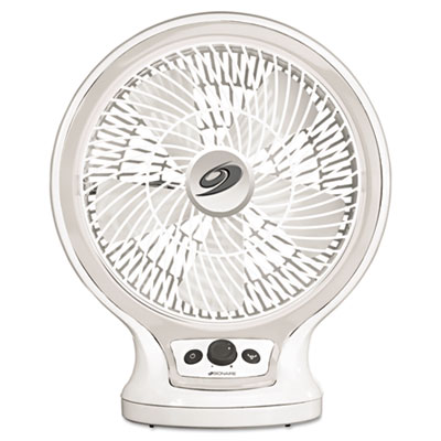 Eco-smart table fan, 2-speed, white, sold as 1 each