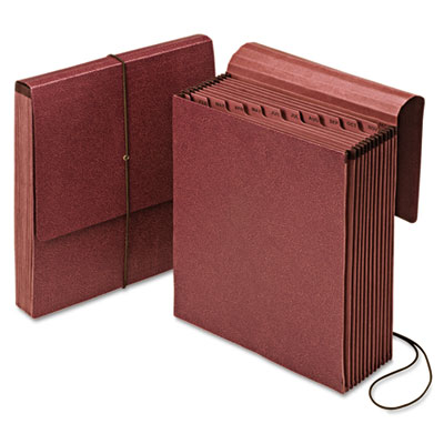 Vertical indexed expanding file, jan-dec., 12 pockets, letter, redrope, sold as 1 each