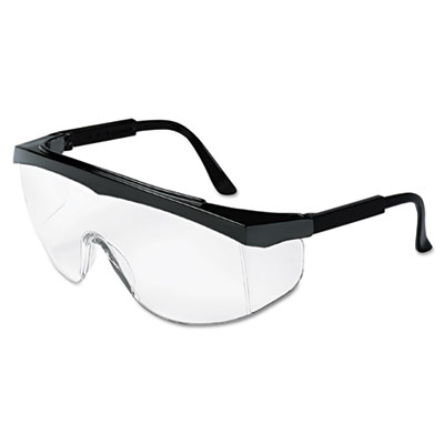 Blackjack protective eyewear, chrome/clear, sold as 1 each