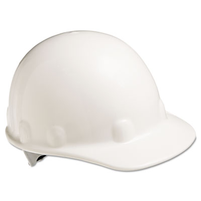 E-2 cap hard hat with ratchet suspension, white, sold as 1 each
