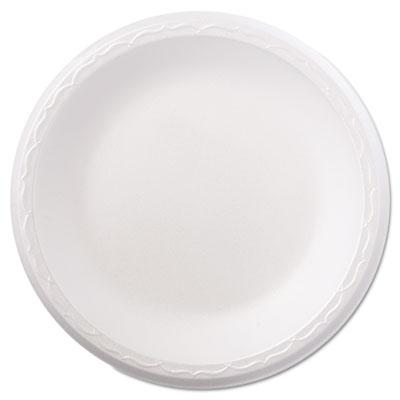 """Foam dinnerware, plate, 8 7/8"""" dia, white, 125/pack, 4 packs/carton, sold as 1 carton, 500 each per carton"""
