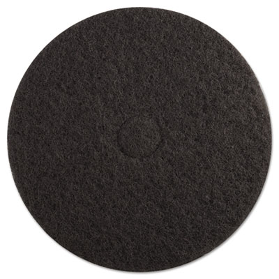"Standard floor pads, 19"" dia, black, 5/carton, sold as 1 carton, 5 each per carton"