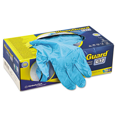 G10 blue nitrile gloves, powder-free, blue, medium, 100/box, sold as 100 each