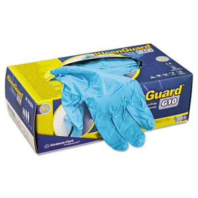G10 blue nitrile gloves, powder-free, blue, x-large, 100/box, sold as 90 each
