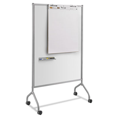 Impromptu magnetic whiteboard collaboration screen, 42w x 21 1/2d x 72h, gray, sold as 1 each
