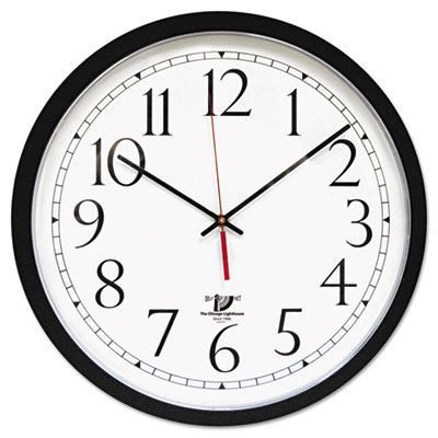 "Selfset wall clock, 16-1/2"", black, sold as 1 each"