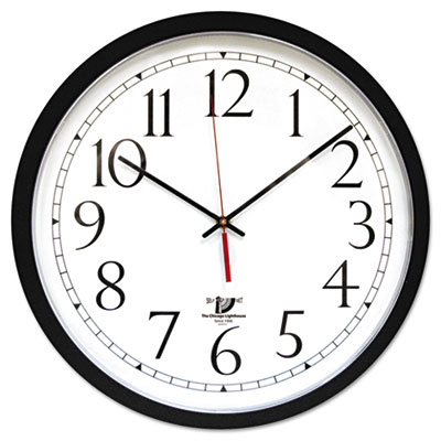 "Selfset wall clock, 14-1/2"", black, sold as 1 each"
