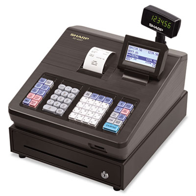 Xe series electronic cash register, thermal printer, 2500 lookup, 25 clerks, lcd, sold as 1 each