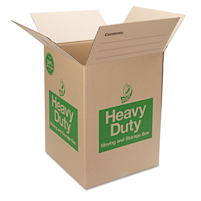Heavy-duty moving/storage boxes, 18l x 18w x 24h, brown, sold as 1 each