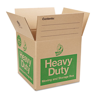 Heavy-duty moving/storage boxes, 16l x 16w x 15h, brown, sold as 1 each