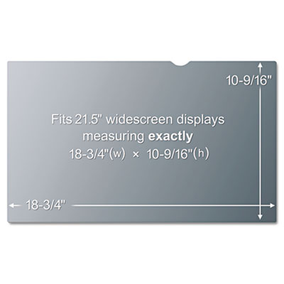 "Blackout frameless privacy filter for 21.5"" widescreen lcd monitor, 16:9, sold as 1 each"