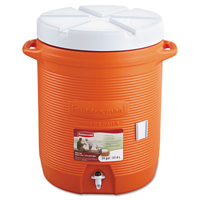 "Insulated beverage container, 16"" dia. x 20 1/2h, orange, sold as 1 each"