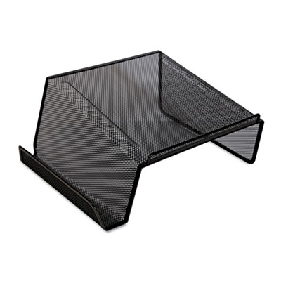 Mesh desktop telephone stand, black, sold as 1 each