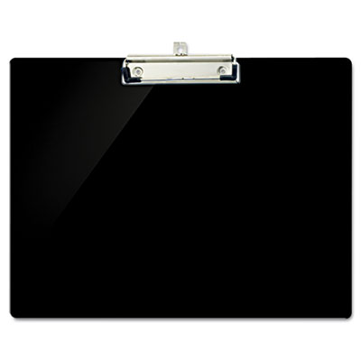 "Recycled plastic landscape clipboard, 1/2"" capacity, black, sold as 1 each"