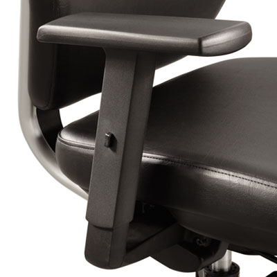 Height-adjustable t-pad arms for sol task chair, nylon, black, 2/pair, sold as 1 pair