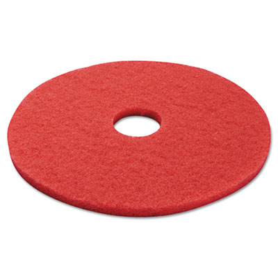 Standard 17-inch diameter buffing floor pads, red, sold as 1 carton, 5 each per carton